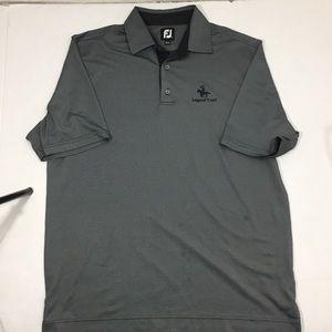 Men's FootJoy Gray Athletic Golf Polo Shirt L